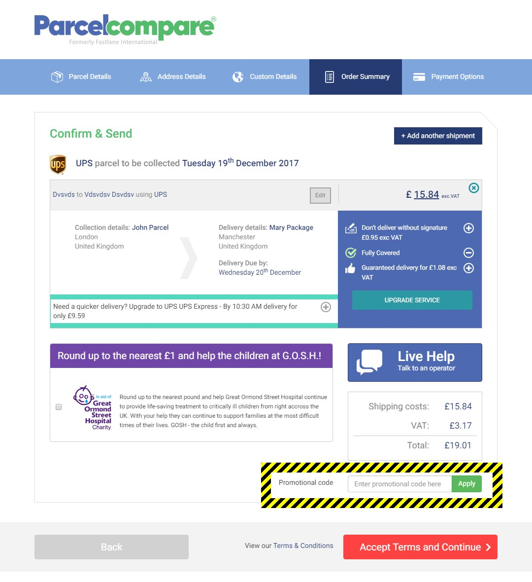 Parcelcompare Discount Codes - May 2020