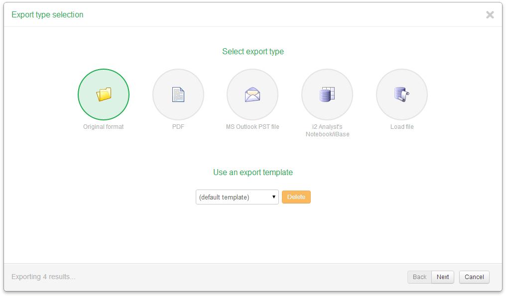 10. Exporting — Intella Connect™ User Manual