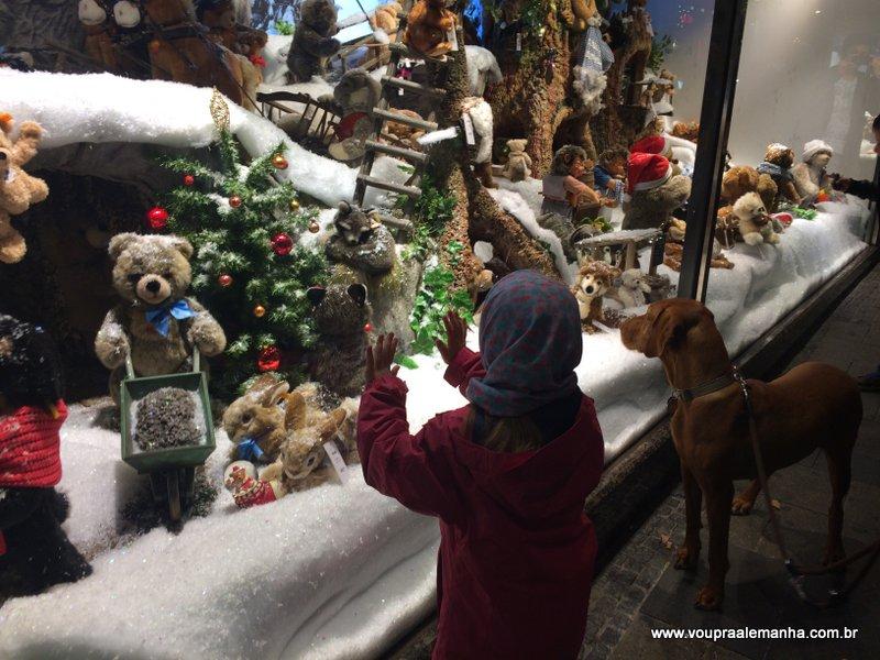 Vitrine de Natal da Galeria Kaufhof da Marienplatz de Munique
