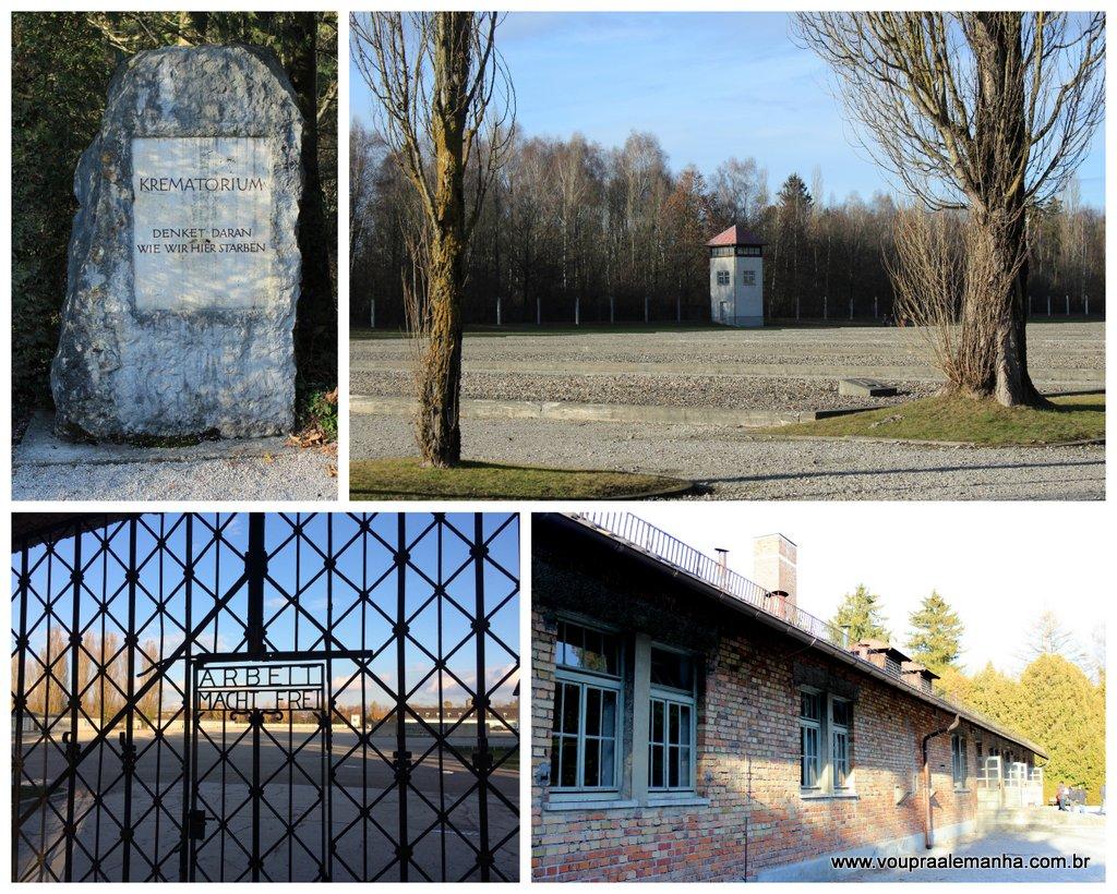 Vários pontos de interesse no Campo de Concentração de Dachau