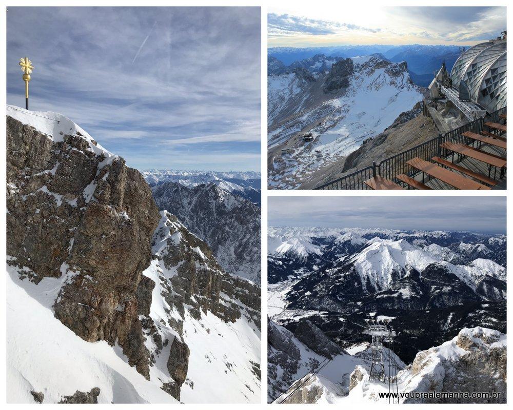 Zugspitze na Alemanha, o ponto culminante do país