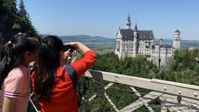Panorama para fotografar da Ponte Marienbrücke