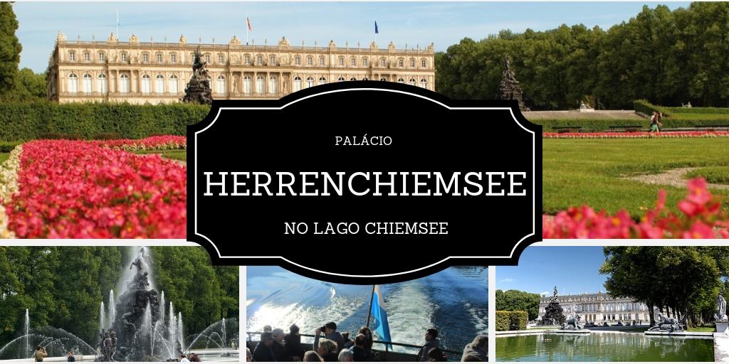 Palácio Herrenchiemsee, no lago Chiemsee, próximo de Munique