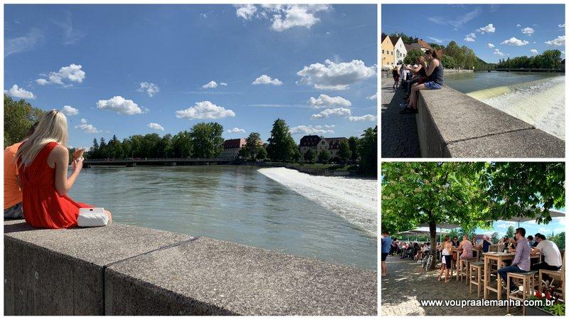 Movimento à margem do lindíssimo rio Lech