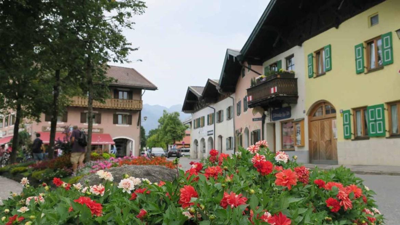 Centro de Mittenwald, na Rota dos Alpes da Alemanha