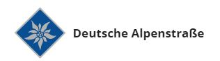 Símbolo da Rota dos Alpes na Alemanha