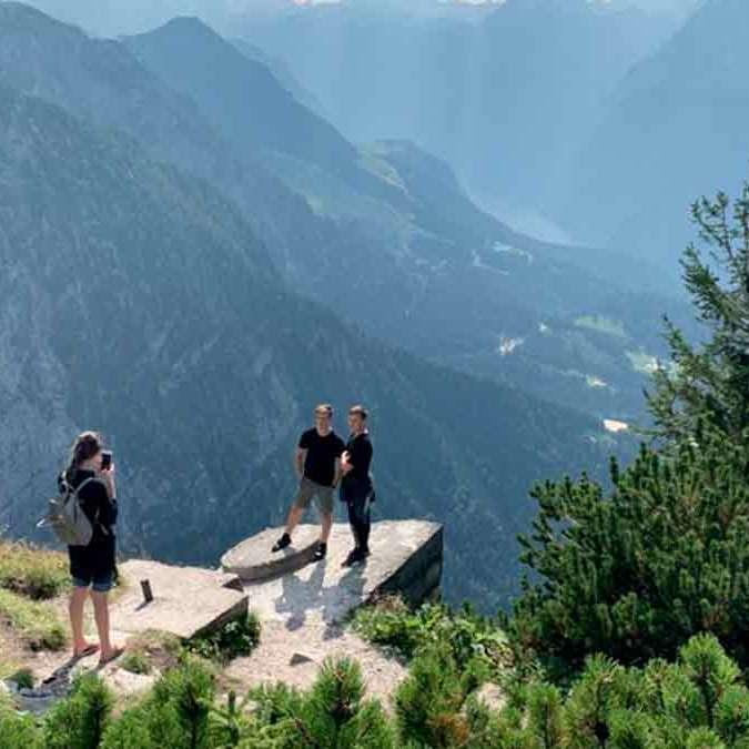 Paisagem do Ninho da Águia nos Alpes da Alemanha