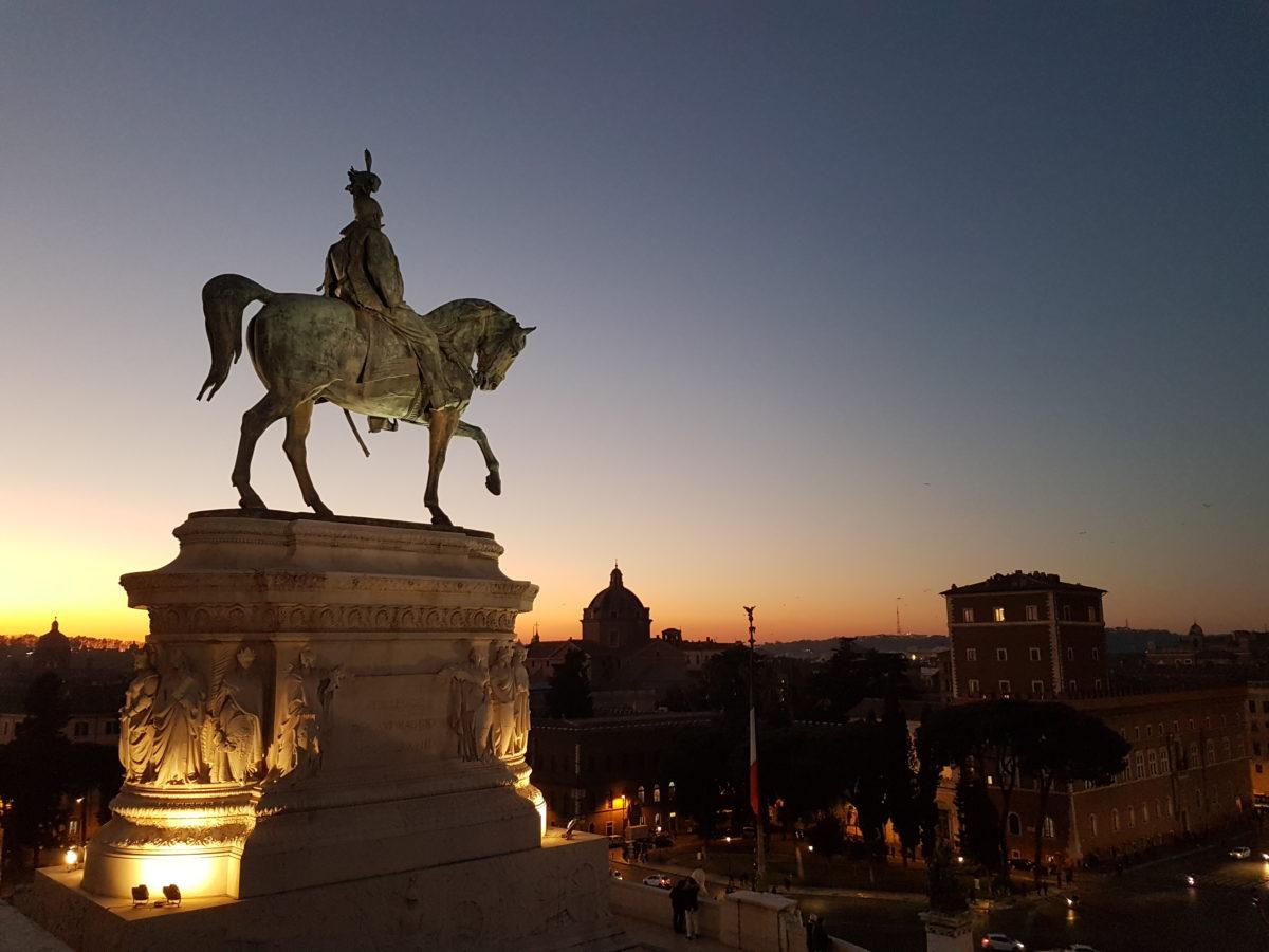 Terrazza del Vittoriano vista panormica Roma  VoupraRoma