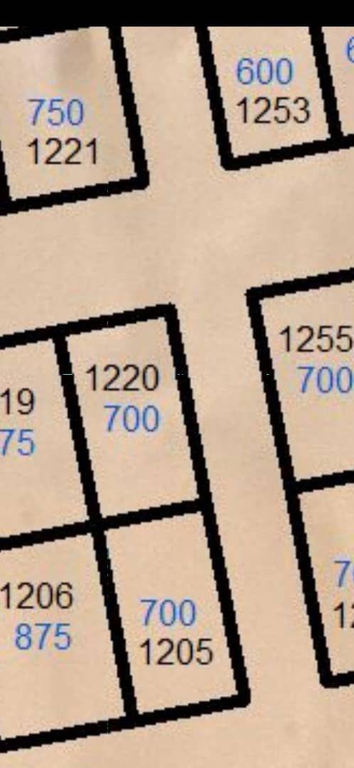 نيمرو للبيع في تفرغ زين سكتير 5 مساحة 750م قابل للقسم