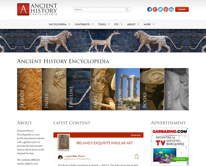 AHE – Ancient History Encyclopedia