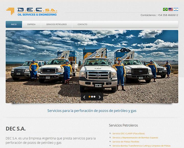 Diseño web para servicios petroleros