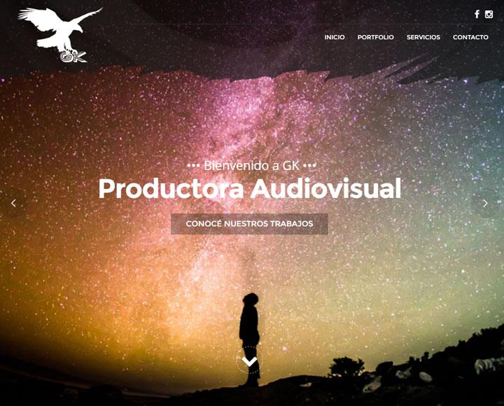 Diseño Web para GK Producciones
