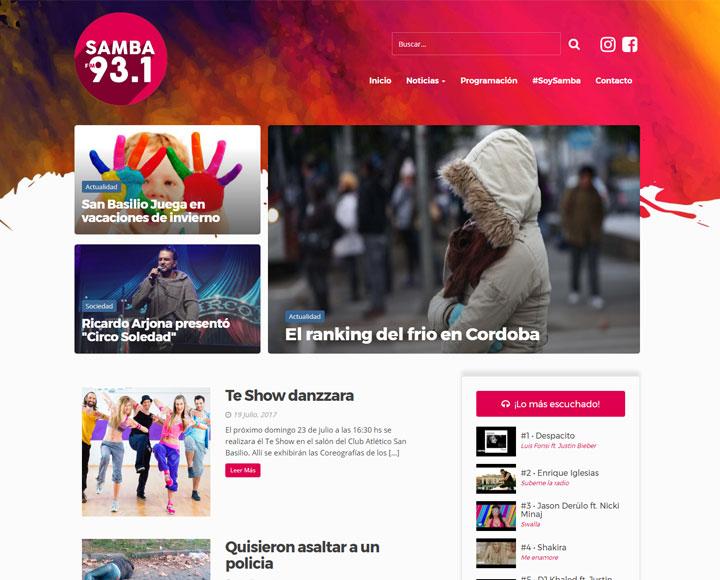 Diseño Web para FM Samba