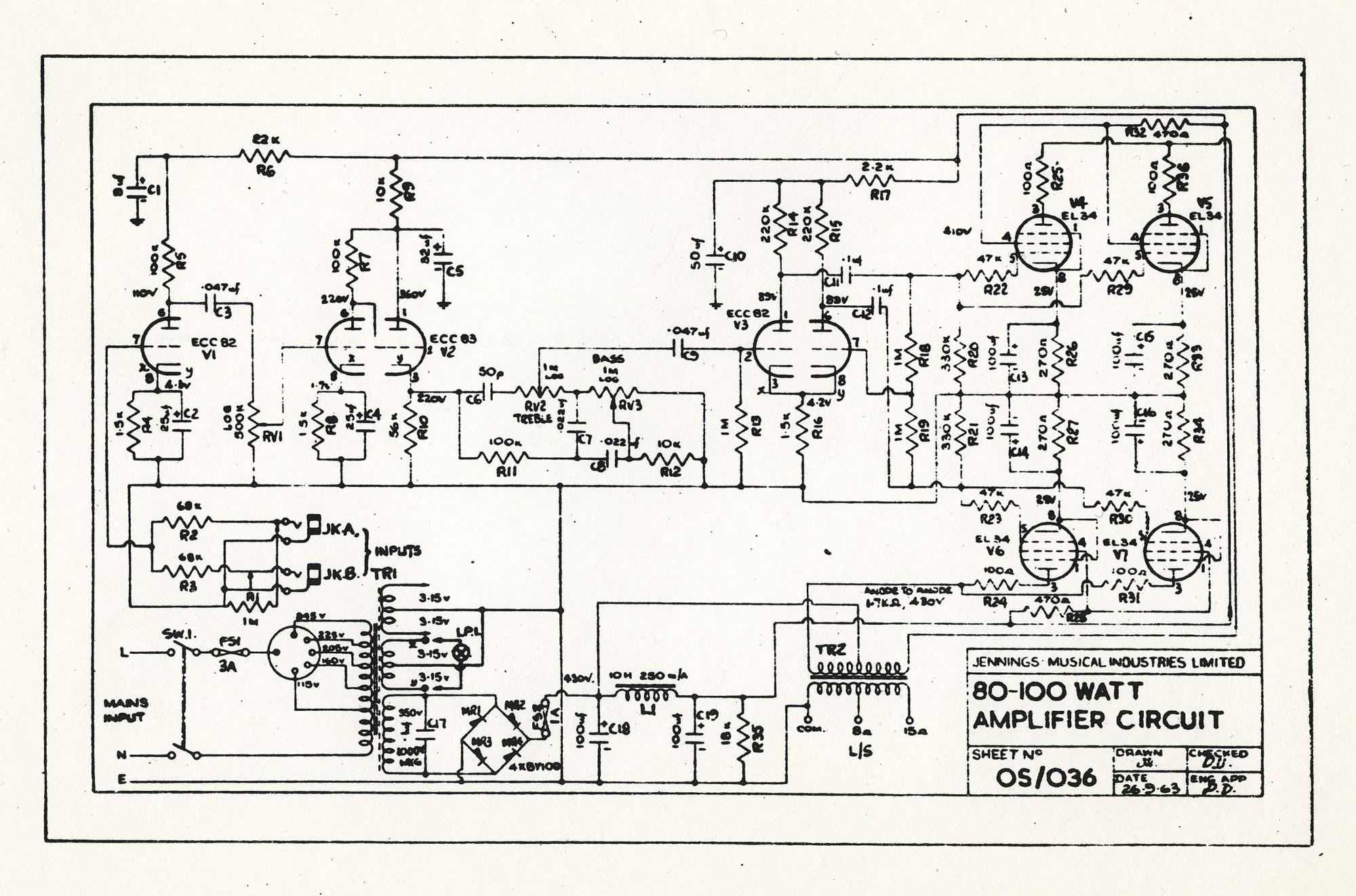 hight resolution of vox amp schematic wiring diagramvox ac100 schematicsvox ac80 100 schematic