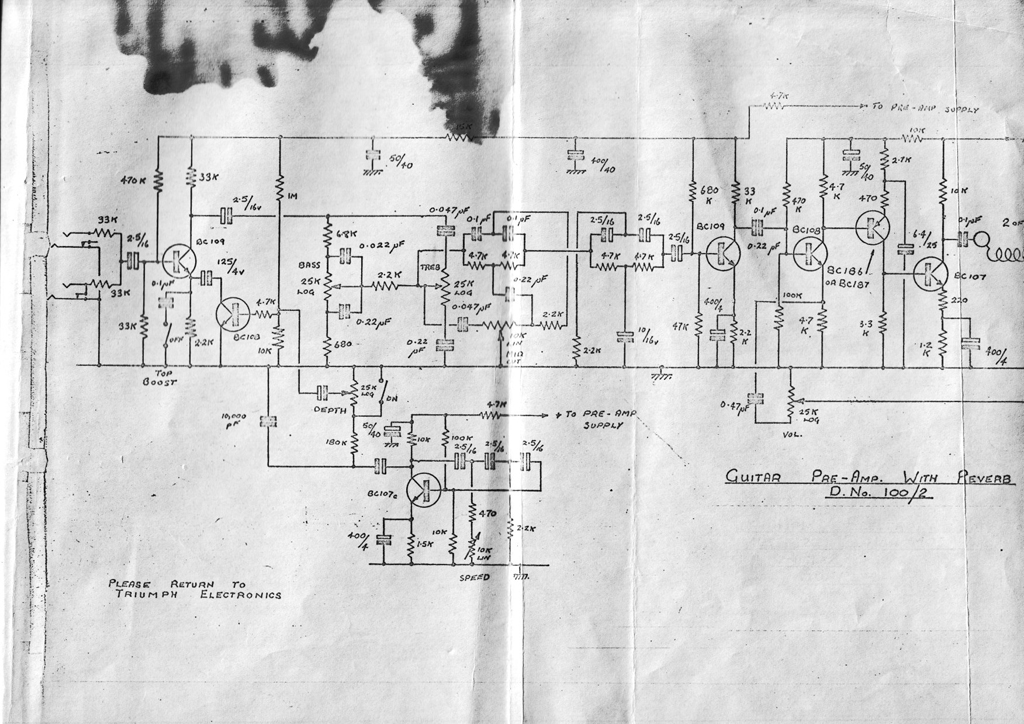 100 Amp Wiring Diagram Triumph Electronics Makers Of Vox Ac100 Chassis