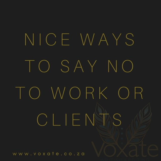 nice ways to say no to clients