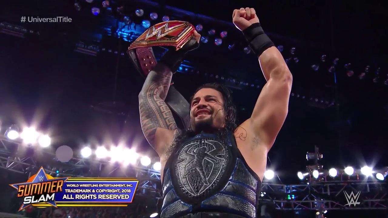 Braun Strowman Hd Wallpaper Wwe Summerslam 2018 Roman Reigns Devient Champion