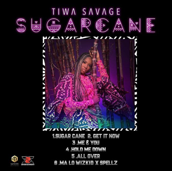 Tiwa savage sugarcane ep artwork