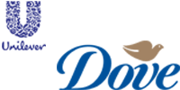 This is an image of the Unilever and Dove brand logos.