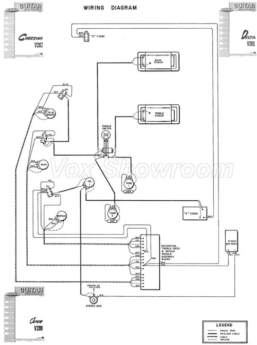 small resolution of the vox showroom vox v267 cheetah and v289 viper guitar wiring diagram teisco guitar wiring v261