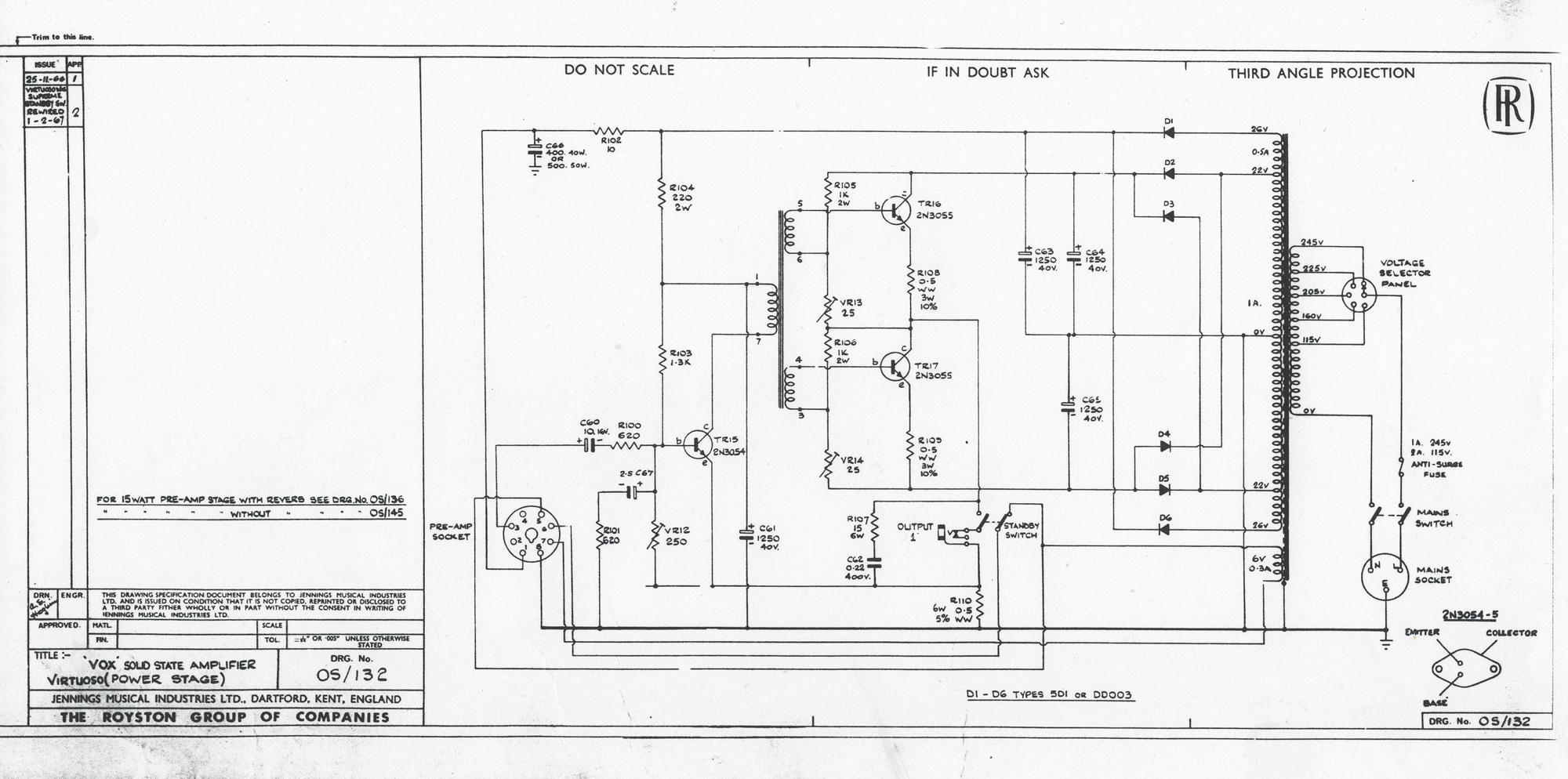 Vox Solid State schematics (circuit diagrams)
