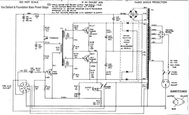 Vox Solid State schematics
