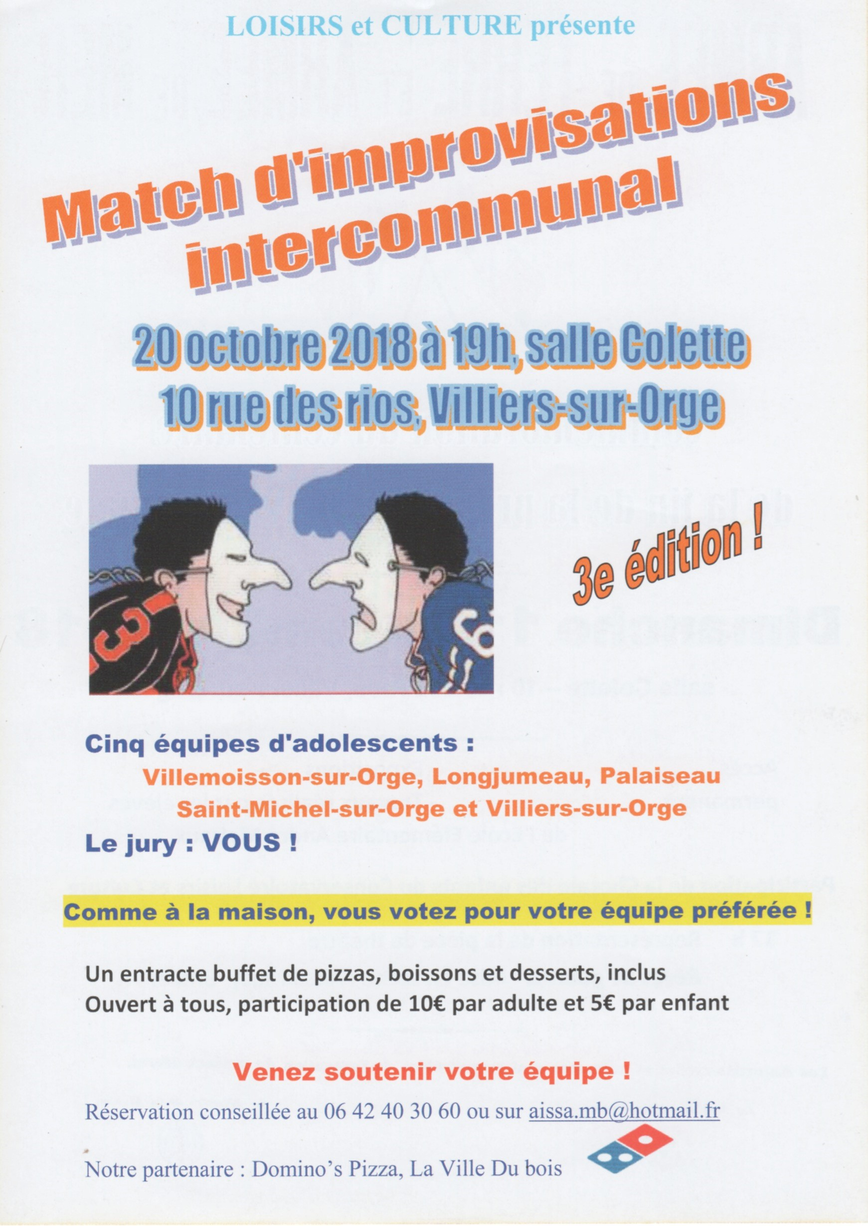 Match Impro Octobre 2018
