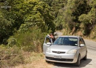 Mumu et la voiture - Nouvelle-Zélande