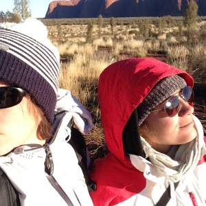 Clem et Mumu devant Uluru