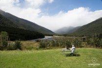 La pause repas d'une baroudeuse - Nouvelle-Zélande