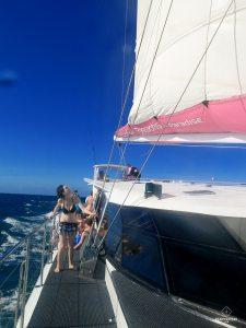 Clem sur le Catamaran - Cairns