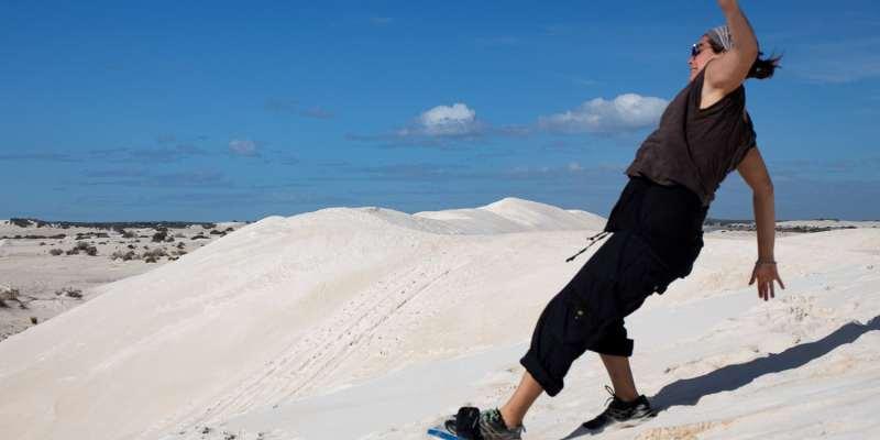 Sandboard Lancelin Australie