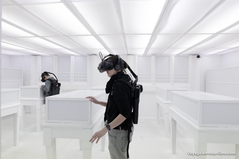 Exposition immersive temporaire au Fresnoy qui exploite la VR (Réalité virtuelle).