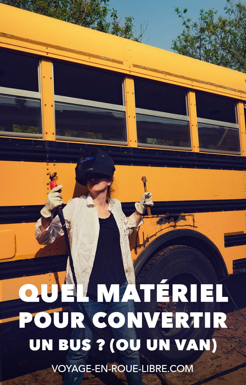 Nous nous faisons souvent demander quels outils ou quels produits nous utilisons pour convertir notre autobus scolaire. Et en effet, cela prend de s'équiper un minimum une fois que tu as acheté ton bus !Dans cet article, on fait le tour des produits que nous utilisons au cours de notre conversion.Nous te donnons aussi les bons fournisseurs dans la région du Grand Montréal.Nous complétons cet article au fur et à mesure de l'avancement des travaux à bord du skoolie.