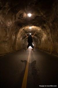 Le tunnel pour sortir du cratère de Diamond's head