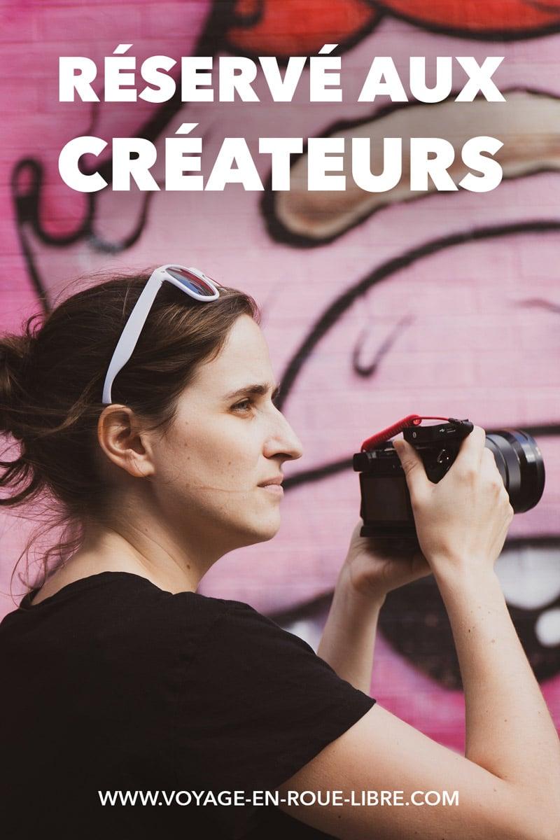Clique ici si tu es un créateur freelance ! Nous travaillons sur la création d'articles, de vidéos, de formations, mais aussi d'évènements et de voyages pour t'aider à développer ton projet. Mais ça, on ne peut pas le faire sans toi, puisque c'est pour toi !
