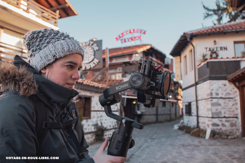 Mumu filme nos prochaines vidéos Youtube à Bansko