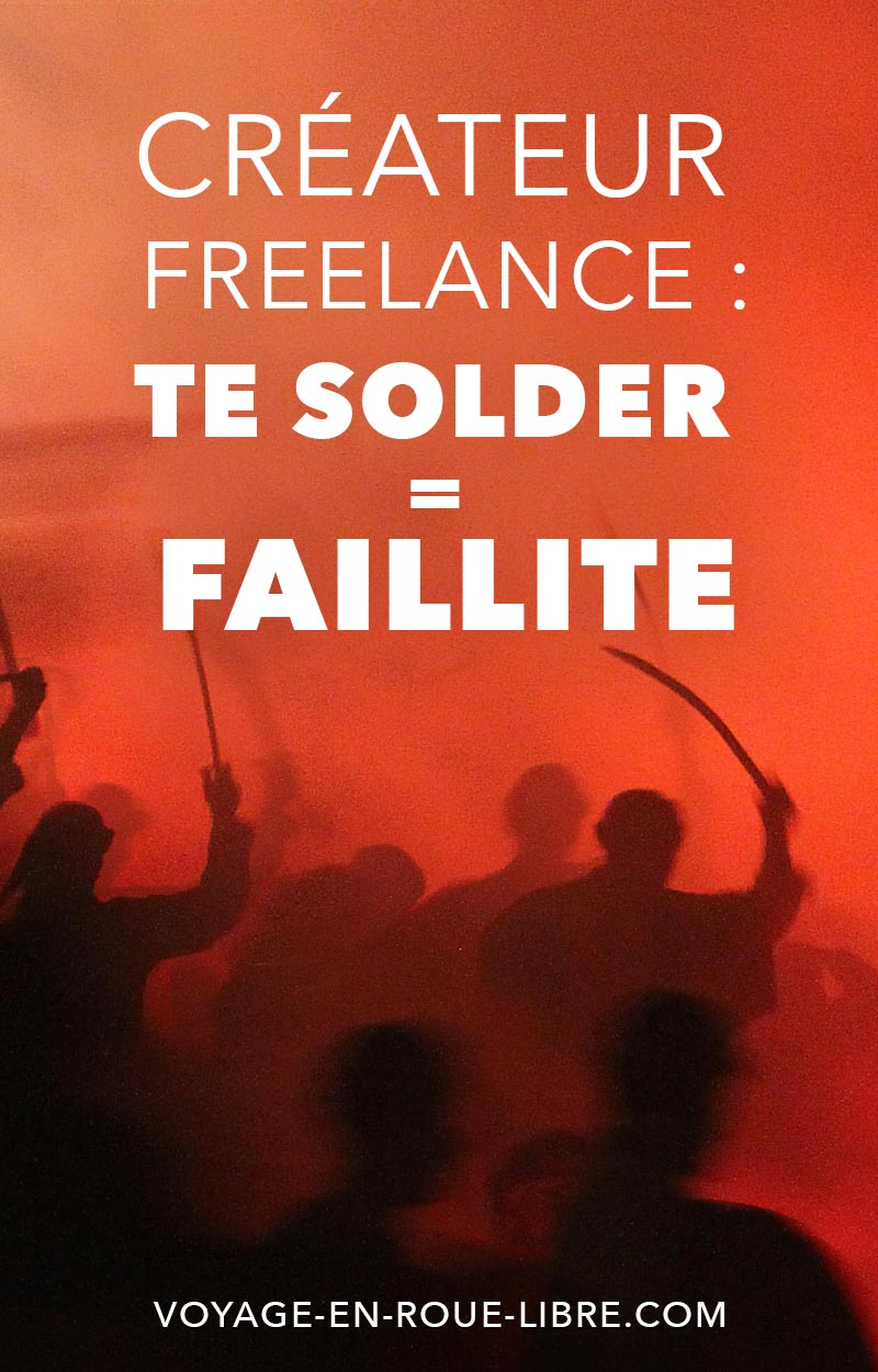 Créateur freelance : se solder c'est faire faillite à coup sûr !