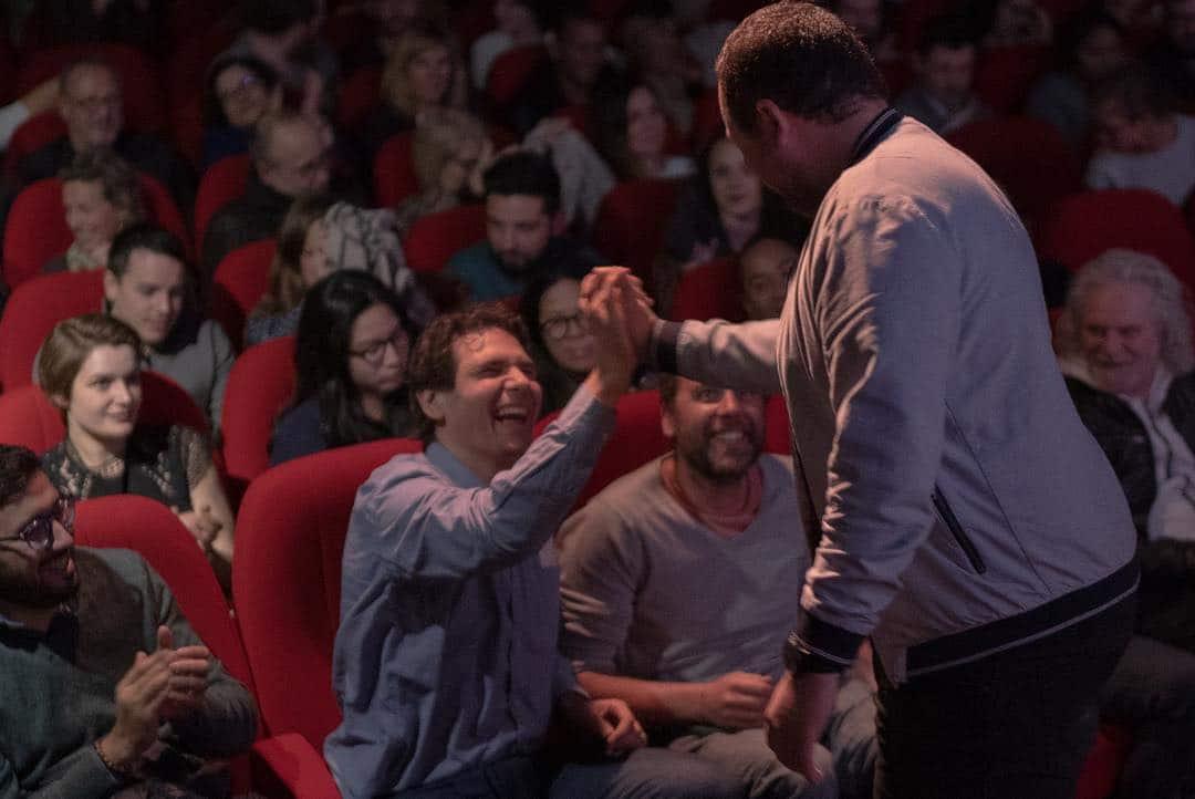 """Première du documentaire """"Premiers pas vers un voyage engagé"""" de Loris Monteux et Alex Vizéo."""