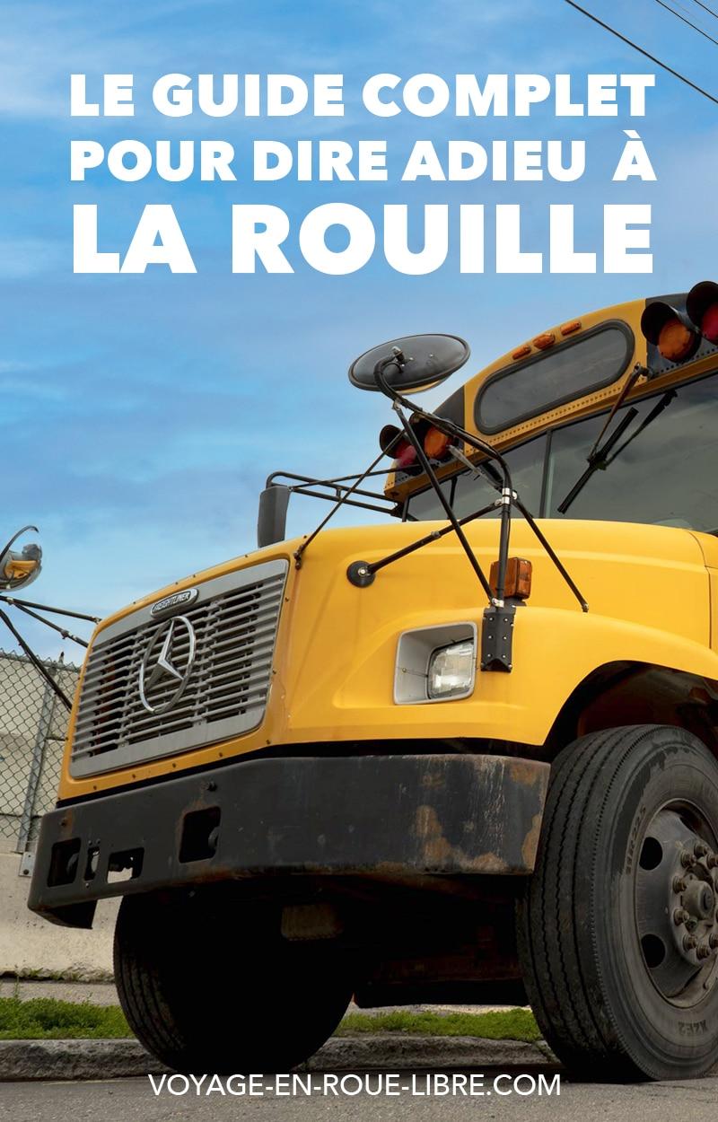 Comment traiter la rouille de son van, bus ou fourgon aménagé ?  C'est une question que l'on n'a pas envie de se poser et pourtant...  Tu viens peut-être d'acheter un van tout beau, tout vieux ! Ou alors, tu as investi comme nous dans un bus scolaire au Québec.  Et tu viens de constater en arrachant les aménagements que ton véhicule est attaqué par la rouille ou pire : la corrosion.  Et dans ces cas-là, tu n'as pas intérêt à faire l'autruche. La seule solution est de traiter la rouille.  On a passé des jours et des jours à venir à bout de la rouille dans notre véhicule. Il faut dire qu'Elva était bien attaquée...  #skoolie #fourgonamenage #vanlife #van #rouille