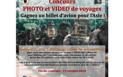 Concours photo et vidéo de voyage : gagnez deux billets d'avion pour l'Asie