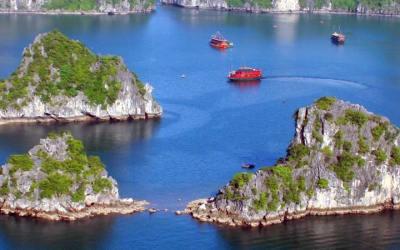 Seconde étape de mon voyage: la Baie d'Halong