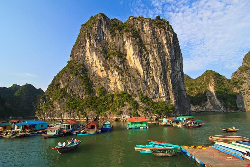 Village flottant de Cua Van, Baie d'Halong - Vietnam