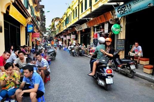 Les rues de Hanoi, Vietnam