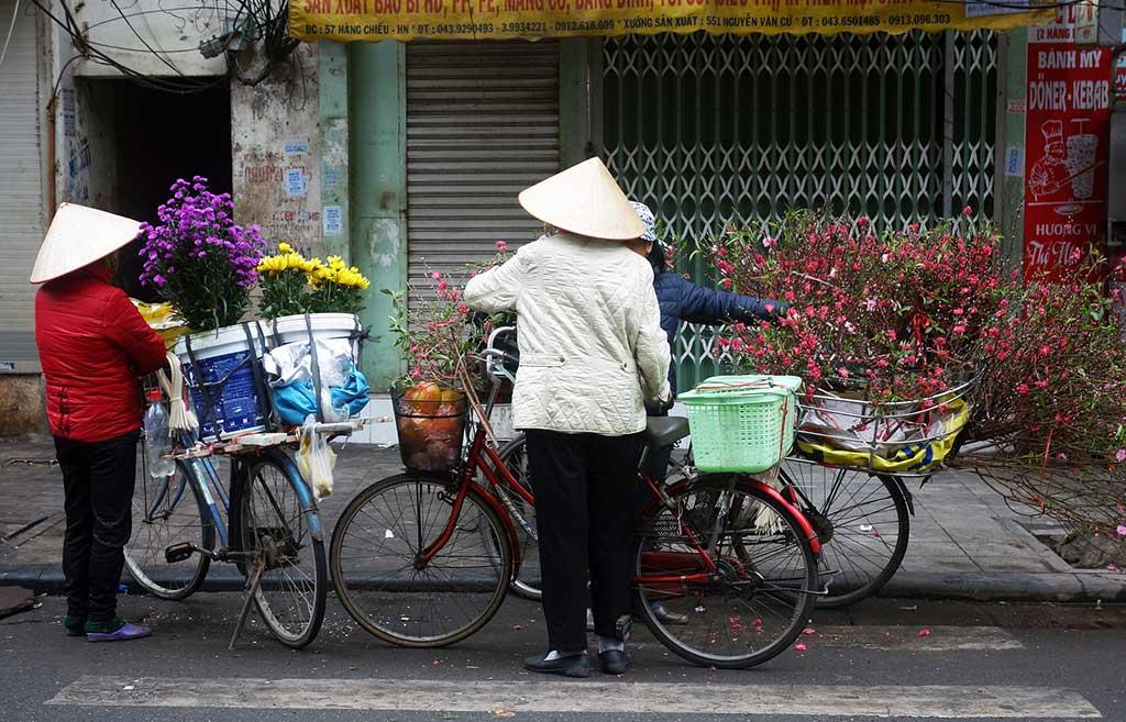 Vendeuses de fleurs - Hanoi, Vietnam