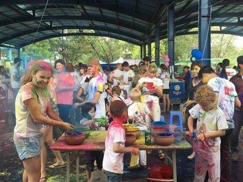 Fête de Holi à Hanoi, Vietnam