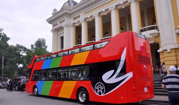 Bus à impériale - Hanoi, VietnamBus à impériale - Hanoi, Vietnam