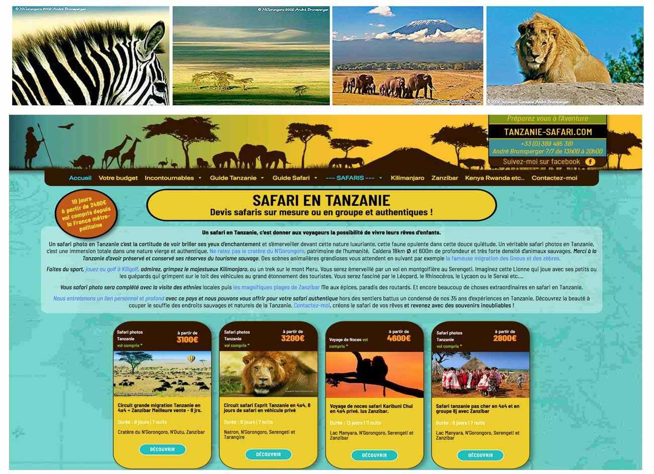 Voyage et safari en Tanzanie