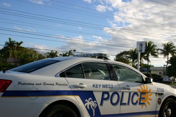 Voiture de police Key West voyage en beauté