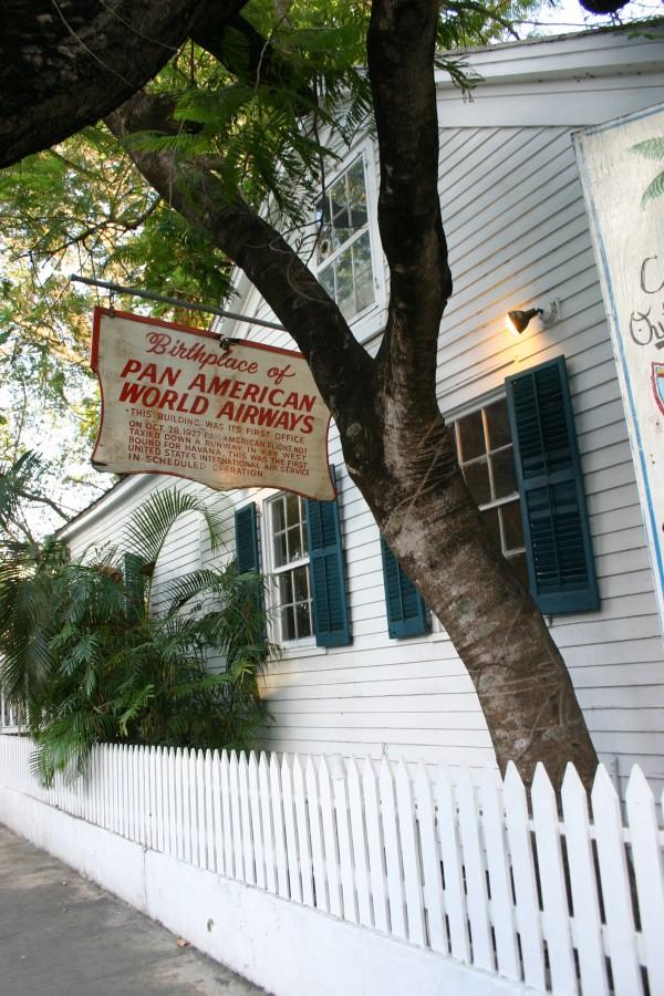 Siège originel de la Pan Am à Key West : c'est ici qu'eut lieu en 1927 le premier vol international depuis La Havane